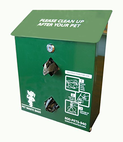Pet Waste Bag Dispenser, Aluminum, with 400 Dog Waste Bags ( PWC-013 ) ()