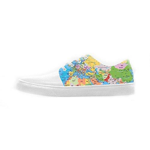 Custom Weltkarte Womens Canvas shoes Schuhe Footwear Sneakers shoes Schuhe A
