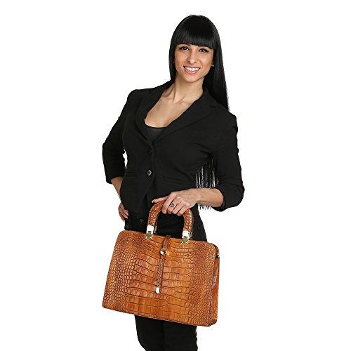 Chicca Mujer Made De Piel Bolso Italy En 37x26x14 Borse Broncearse Python Cm Genuina Con In Hombro Correa Pattern qA1Bqc