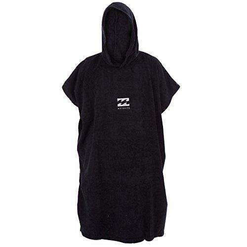 Billabong Black Sweatshirt (/16 Billabong Mens Hooded Vadar Hoodie Towel / Changing Poncho BLACK U4BR03)