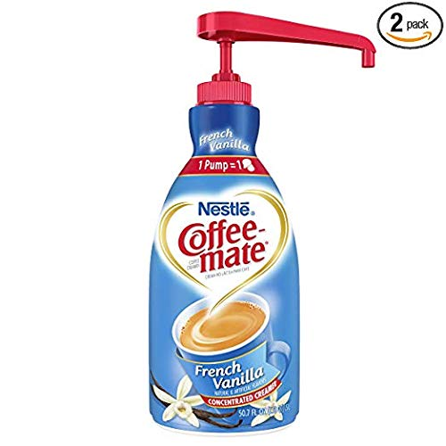 NESTLE COFFEE-MATE Coffee Creamer, French Vanilla, 1.5L liquid pump bottle, Greatt Siize Packk(Pack of 3)