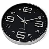 Bernhard Products Black Wall Clock 12 Inch