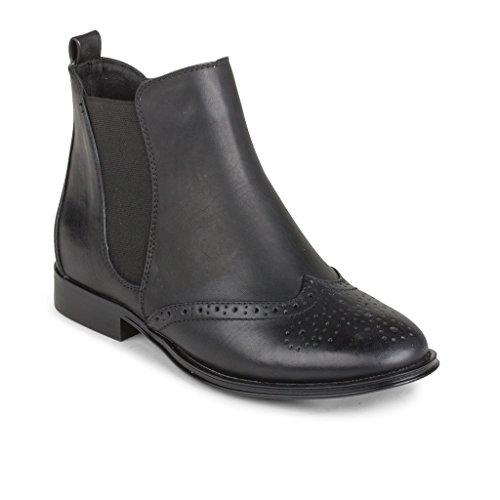 Saba 6 Wanted Cognac M boots Black Women's 8wnpPqU