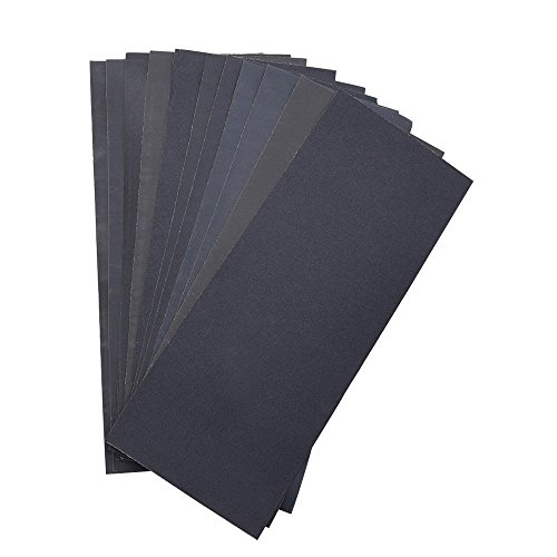 1200 Furniture (Abrasive Dry Wet Waterproof Sandpaper Sheets Assorted Grit of 400/ 600/ 800/ 1000/ 1200/ 1500 for Furniture, Hobbies and Home Improvement (12 Sheets))