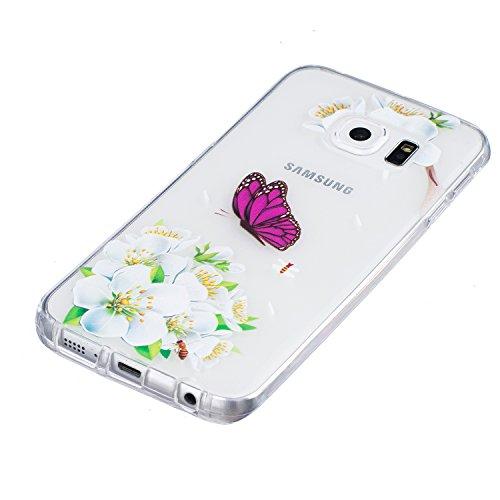 Funda Samsung Galaxy S6 Edge Carcasa, DAOXU Suave Transparente TPU Silicona Parachoques Tapa para Samsung Galaxy S6 Edge Ultra Delgado Suave Funda Protectora Ligera Carcasa Blanda Flexible Caja Anti R TPU image-1
