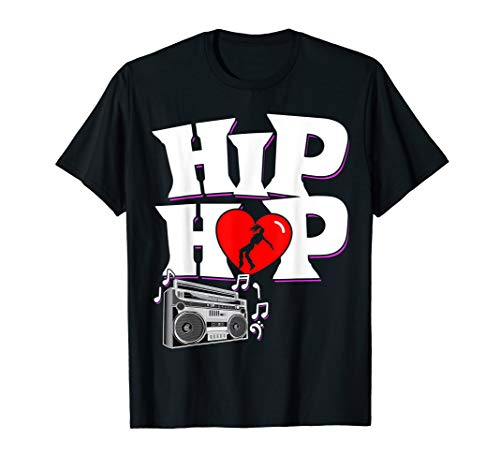 I Love Hip Hop Dancer Girl with Boom Box Music Tunes T-Shirt (The Best Hip Hop Dancer)
