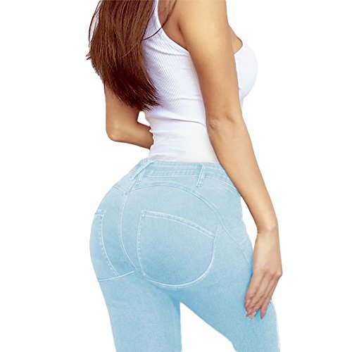 Women's Extreme Butt Lift Stretch Denim Jeans P46862SK Light WASH 7