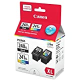 Genuine Canon PG-240XL/CL-241XL HIGH Yield Ink Cartridge Value Pack, Black and Tri-Colour
