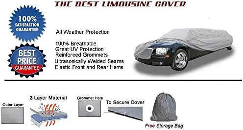 Limousine Cover Super Quality Heavy-Duty Limo Cover fits Lincoln Town Car Stretch Limousine up to 25 in total length 78-90 stretch