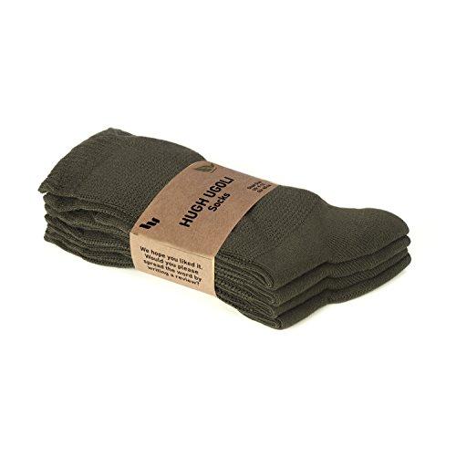 Hugh Ugoli Women's Diabetic Crew Socks Bamboo Viscose Thin Comfort Seam Toe 4 & 6 Pairs