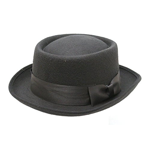 Black Pork Pie Hat Deluxe Felt Walter White Breaking Bad Gangster Costume (Walter White Pork Pie Hat compare prices)