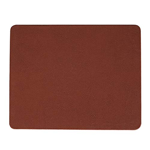 RiaTech Non-Slip Protector Rectangular PU Leather Mouse Pad for Desktop Office Laptop & Computer – (Brown, 255 x 200 x 4…