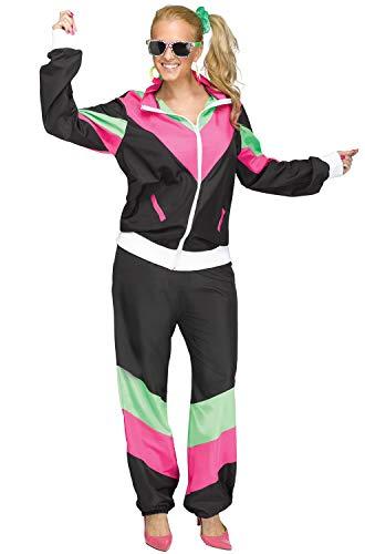 Fun World Women's 80's Sweat Suit, Black, M/L Size ()