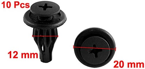 10 x Black Plastic Push-Type Trim Mat Clips