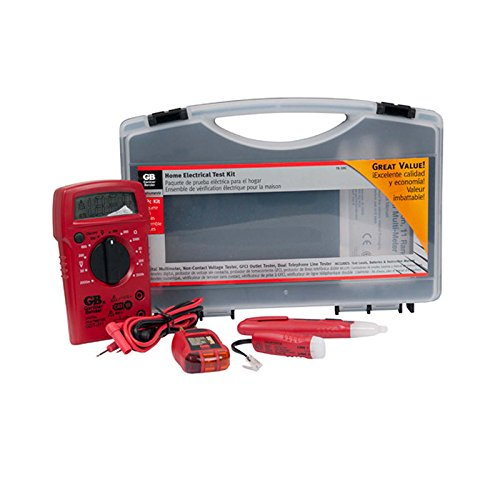 Multimeter Non Contact (Gardner Bender TK-5HCN Home Electrical / Electrician Tester Kit Includes Digital MultiMeter (GDT-311), Non-Contact Voltage Tester (GVD-3504), GFCI Outlet Tester (GFI-3504), Dual Phone Line Tester (GTT-3200), & Replacement Test Leads (RTL-103), 4 Pc. Kit, Red & Black)