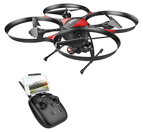 DROCON U818PLUS WIFI FPV Drone With Wide-Angle HD 2MP Camera,15 Min Flight Time, Altitude Hold, Headless Mode, One-Button Take-off And Landing, TF Card 4GB Included, Quadcopter Designed For Beginners (Phone Entry Controller)