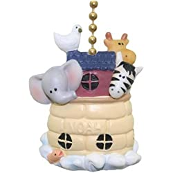 Noah's Ark Animals Elephant Giraffe Zebra Dove Fan Pull