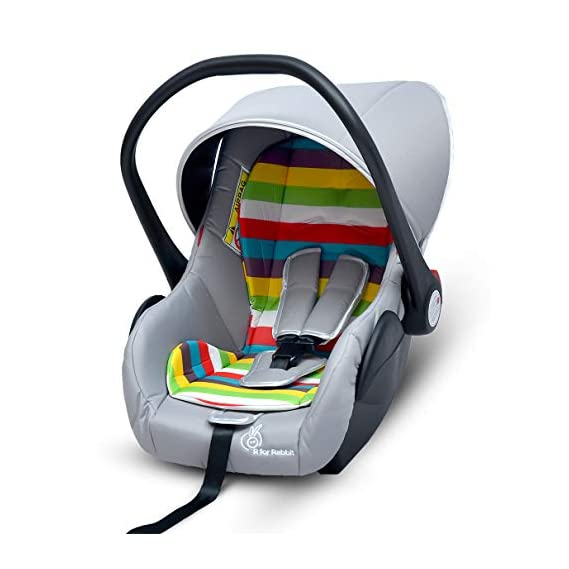 R for Rabbit Picaboo 4 in 1 Multi Purpose Baby Carry Cot,Car Seat, Rocker,Feeding Chair for Infant Babies of 0 to 15