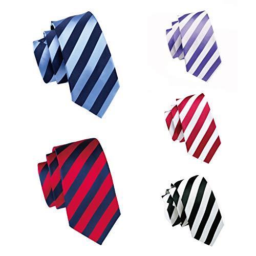 Necktie Black Paisley Design - black/white/red/blue ties for men stripe necktie set wedding business tie