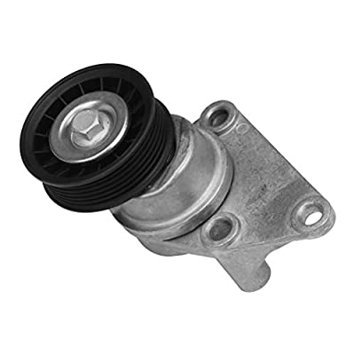 Automatic Serpentine Belt Tensioner and Pulley Assembly - Replaces 38158, 88929140 - Fits Chevy Avalanche, Silverado, Tahoe, Trailblazer, GMC Sierra, Yukon, Cadillac Escalade, Buick Rainier: Automotive