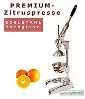 PREMIUM ZITRUSPRESSE │ Stahl / Edelstahl │ für Zitrusfrüchte und Granatäpfel...