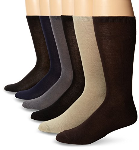Muk Luks Men's 9 Inch Rayon From Bamboo 6 Pair Sock Pack,...