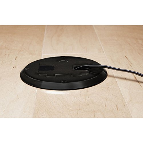 Hubbell Raco 6239bk Black Concealed Receptacle Floor Box