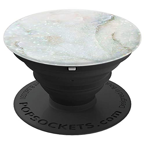 Light Cream White Blue and Green - PopSockets Grip and Stand for Phones and Tablets