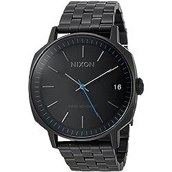 Nixon Men's 'Regent II SS' Swiss Quartz Stainless Steel Casual Watch, Color:Black (Model: A963001-00)