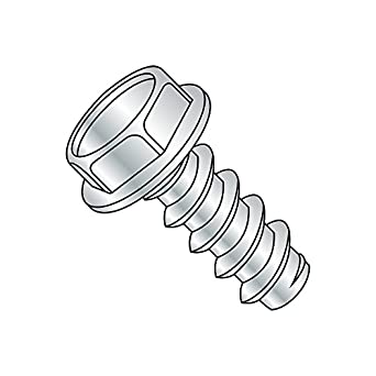 Hex Washer Head Steel Sheet Metal Screw Zinc Plated 3//4 Length Pack of 100 Type B Hex Drive #12-14 Thread Size