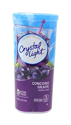 Crystal Light Concord Grape, 12-Quart 2.01-Ounce Canister (Pack Of 6) - Light Soft Drink Mix