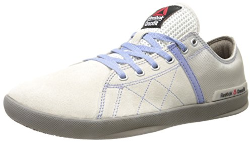 Reebok Women's Crossfit lite lo tr-w, Chalk/Weathered White/Trek Grey/Purple Shadow, 6.5 M US