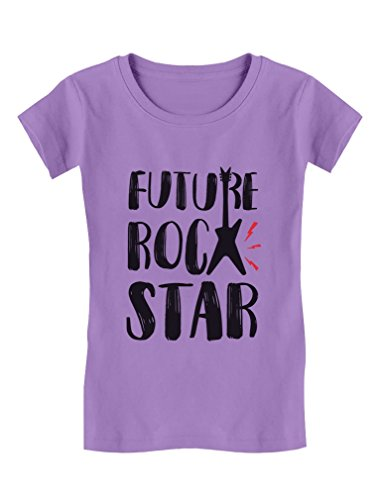 Future Rock Star Cool Children's Gift Toddler/Kids Girls' Fitted T-Shirt 3T Lavender