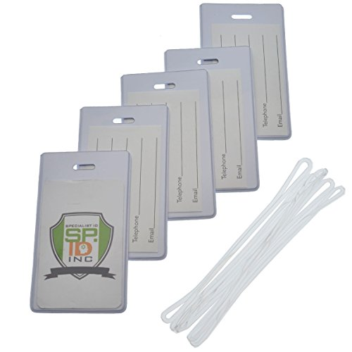 5 Pack of Slim and Sturdy Backpack / Luggage ID Bag Tags...