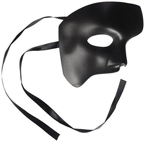 Men's Black Half Mask Blank Mask Masquerade Mask, Phantom of the Opera Venetian Mardi Gras Venetian Mask - Mardi Gras Costumes Designers
