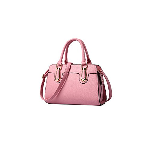 AJLBT Bolsa De Asas Casual Del Bolso Del Hombro Del Bolso De Las Señoras De La Moda Pink