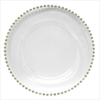 """[Box of 4] Silver Beaded Charger Plate 13"""""""