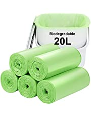 Biodegradable Trash bags 120PCS, Aievrgad 1.2Gallon/5L small Garbage bags/ For Countertop Bin. Bin Liner/Trash/rubbish Bags, 100% Recycled,Tough, degradable, Compost Bags