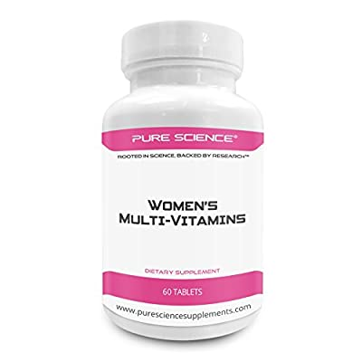 Pure Science Women Multivitamin – Improves Immune Response, Blood Circulation and Supply, Reduce Anxiety & Overall Health – Your Female Multivitamin Supplement – 60 Multi-vitamins Tablets
