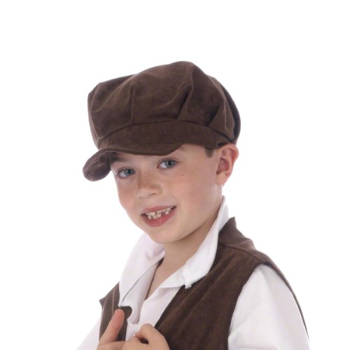 Flat Cap Costume for Kids (Brown) (School Boy Costumes)