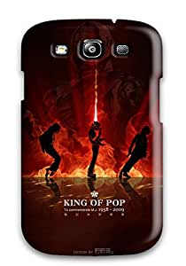 Hot Scratch-free Phone Case For Galaxy S3- Retail Packaging - King Of Pop