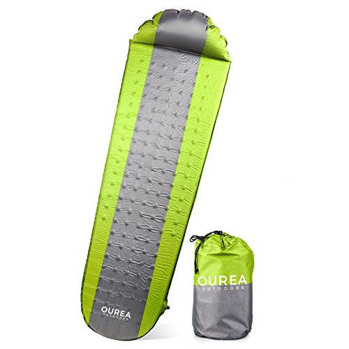 Ourea Outdoors Camping Pad – Perfect for the Ambitious, Active, Adventurers Who Love Backpacking, Hiking, Camping, and Festivals. Lightweight with Superior Insulation.