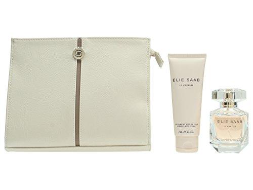 Elie Saab Le Parfum Gift Set 1.7oz (50ml) EDP + 2.5oz (75ml) Body Lotion + Bag