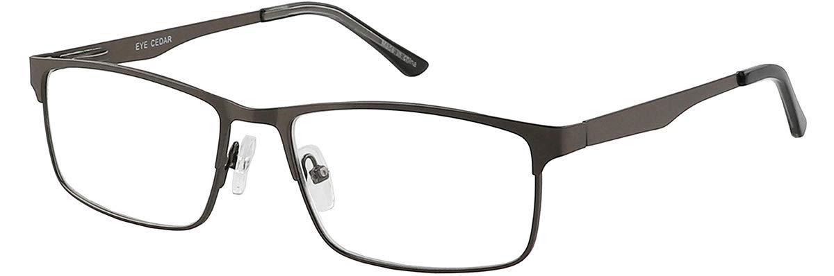 Amcedar estilo rectangular marco de metal incluye lectores de computadora 5 Pairs Mix +3.00 Juego de 5 gafas de lectura para hombre bisagras de resorte de acero inoxidable