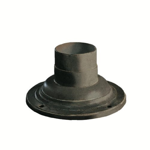 Kichler Lighting 9530OB Cast Aluminum Pedestal Mount Adaptor, Olde Brick by Kichler
