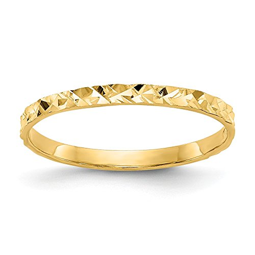 14k Yellow Gold Design Wedding Ring Band Childs Size 3.00 Baby Fine Jewelry Gifts For Women For Her