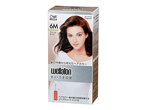 [Hair Care] P&G Wuelatone High Tech Cream 6M Green Natural Natural Chestnut Dye Hair Color (for Women) Quasi-drug x24-piece set (4902565140466)