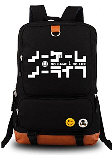 Siawasey Anime No Game No Life Cartoon Laptop Daypack Backpack Shoulder School Bag by Siawasey