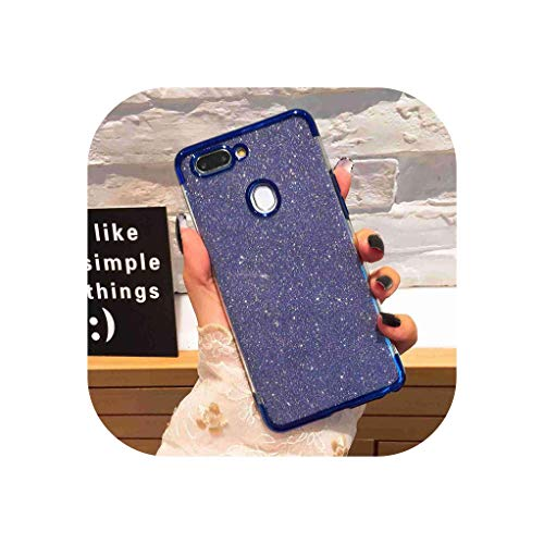 (Glitter Case for Oppo A3S A5 F9 Pro F5 Case for Oppo F7 Youth A3 A57 A71 A79 Cover for Oppo A83 A1 F3 A77 A59 A73 Shell,Blue,for Oppo F9 Pro)