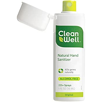 CleanWell Natural Hand Sanitizer Spray - Original - 1 oz